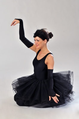 black swan girl costume