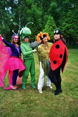 Lepatriinu, liblikas, rohutirts kostüümid