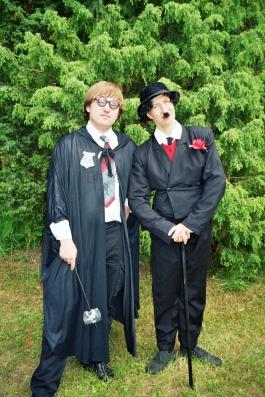 Harry Potter ja Chaplin kostüümid