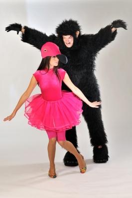 Gorilla ja Flamingo kostyym
