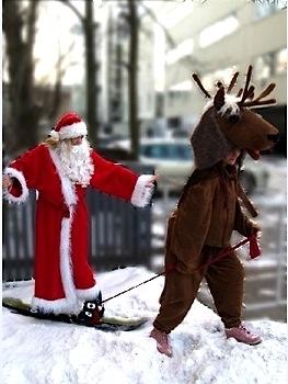 Jõuluvana, põhjapõder kostüüm
