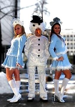 Lumememm ja Snegurotškad kostüüm