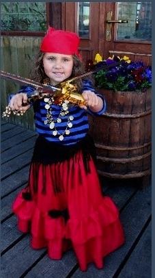 Mereröövel tüdruk kostüüm